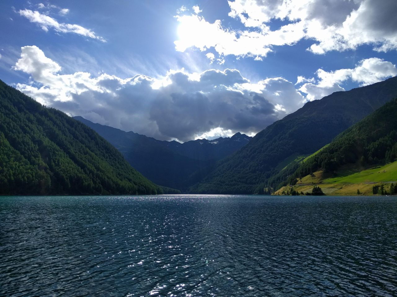Alps Lake Clouds